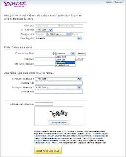 Form Membuat Email Ymail