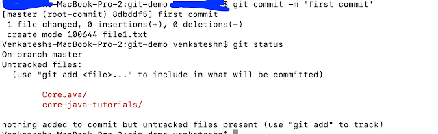 Git Commit Command Example