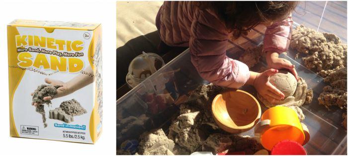 juguetes y juegos para ayudar a aprender a leer y escribir, arena kinetica