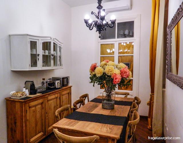 Sala do café da manhã da Testaccio Village Guesthouse, em Roma