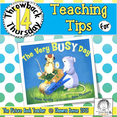 The Very Busy Day by Diana Hendry TBT - Teaching Tips.