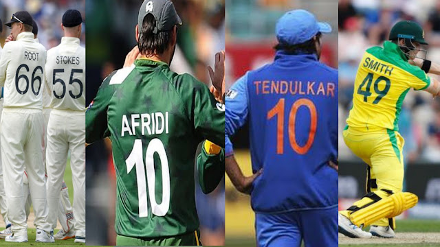 Cricket Jersey number | Cricketers Shirt Numbers