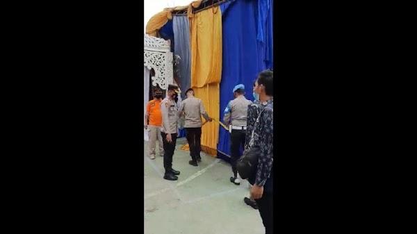 Undang 500 Tamu, Tenda Pesta Nikahan Warga di Jaktim Disegel Polisi