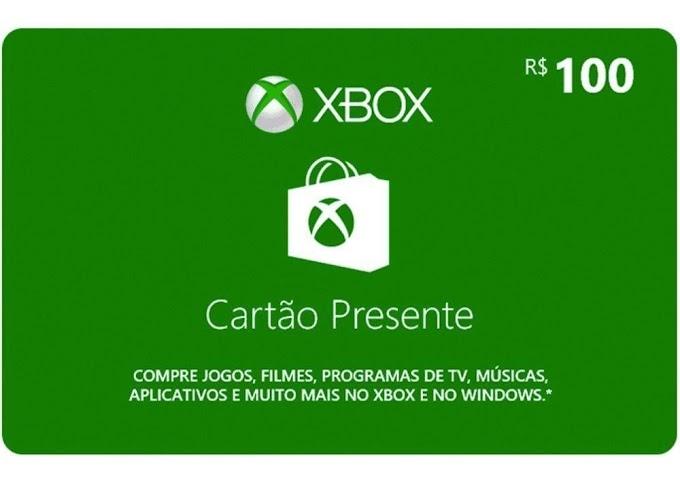 Sorteio Ganhe um vale presente de R$ 100 na Xbox Live!