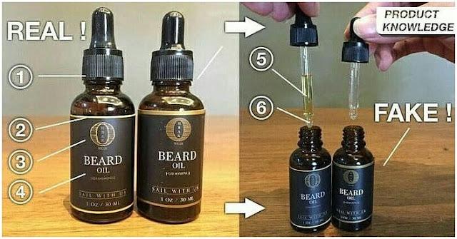 Perbedaan Asli dan Palsu (KW) Ombak Beard Oil Obat Penumbuh Bulu Jenggot Jambang Kumis Brewok Ampuh