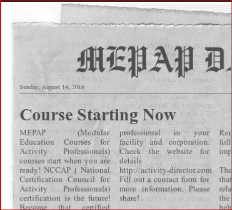 MEPAP2: 2016