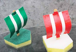 DIY Sponge And Duct Tape Bath Boats