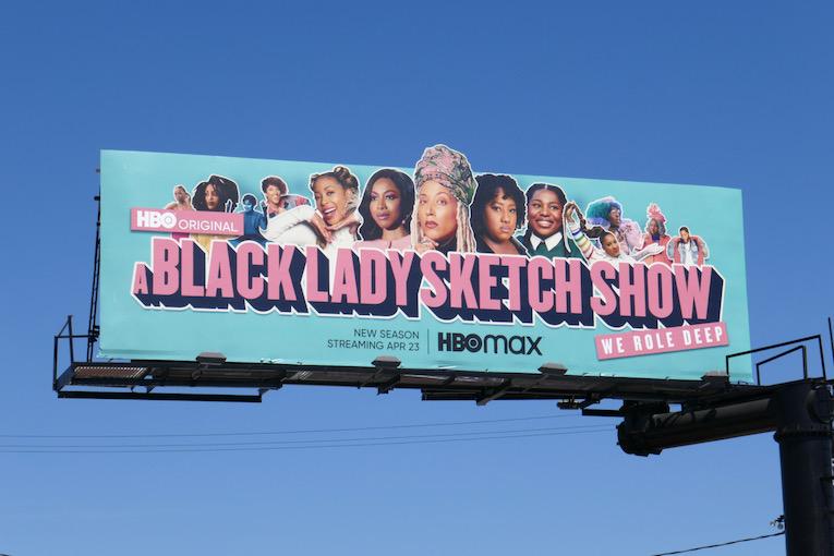 A Black Lady Sketch Show season 2 cut-out billboard
