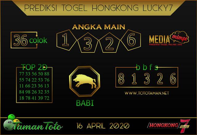 Prediksi Togel HONGKONG LUCKY 7 TAMAN TOTO 16 APRIL 2020