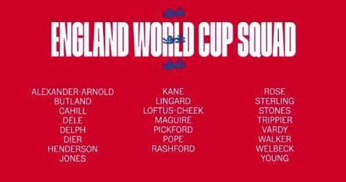 Daftar Pemain Timnas Inggris Piala Dunia 2018 Rusia