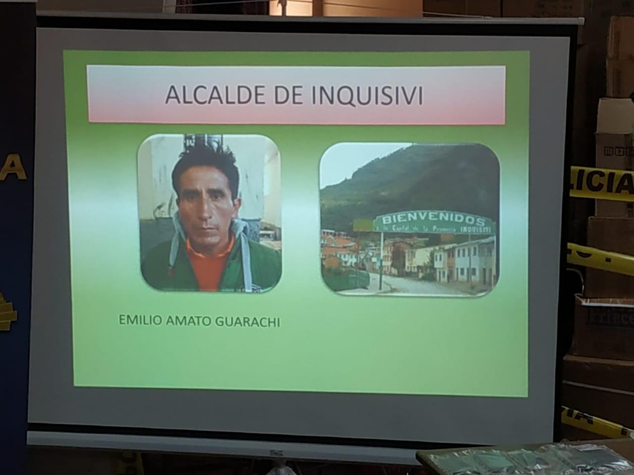 FELCC presentó al director del centro penitenciario de Inquisivi / ÁNGEL SALAZAR