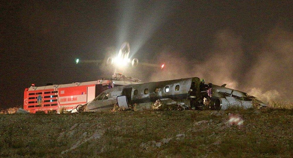 27 Eylül 2017 günü Atatürk Havalimanında iniş sırasında kaza yapan özel bir jet