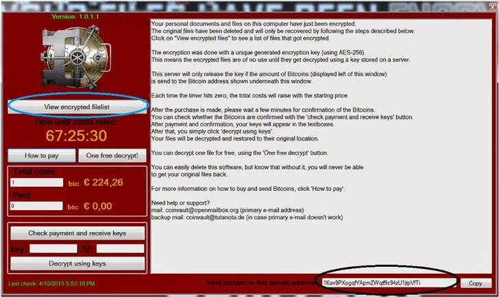 coinvault ransomware decryption software.