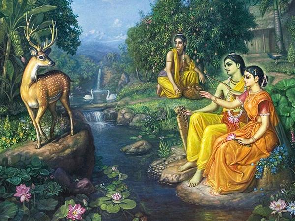 Ramayana Chapter 25- Maricha  and  Ravana at Panchavati