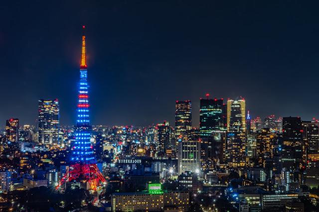 夜景,東京タワー,ライトアップ