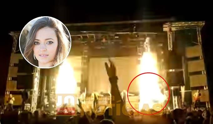 Cantora morre após ser atingida por fogos de artifício durante apresentação; vídeo