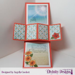 Stamps: Great Faith Stamp/Die Duos Paper: By The Shore Dies: Twist & Pop with Layers,Delicate Doily, Sentiment Strips, A2 Portrait Card Base with Layer, Large Banners, Pierced Circles, Pierced Squares