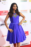 Eesha in Cute Blue Sleevelss Short Frock at Mirchi Music Awards South 2017 ~  Exclusive Celebrities Galleries 070.JPG
