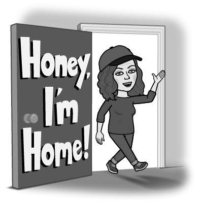 "Bitmoji Karen du Toit: ""Honey, I'm home!"""