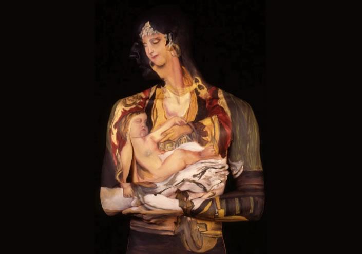 Body paint en mujer