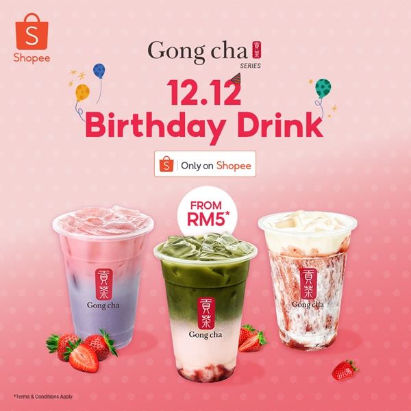Gong Cha 12 12, Shopee 12 12, Gong Cha, Strawberry Taro, Strawberry Matcha Latte, Strawberry Marble, Food