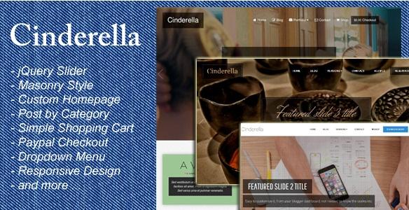Cinderella Blogger Template