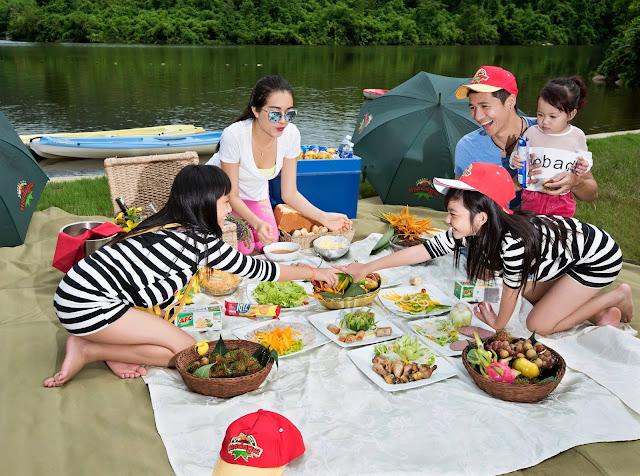 bữa tiệc picnic cùng gia đình tại khu du lịch Madagui