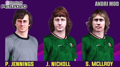 PES 2020 Facepack Legends North Ireland by Andri Mod