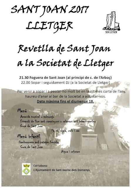 Esguard de Dona - Revetlla de Sant Joan 2017 a Lletger (SJD)