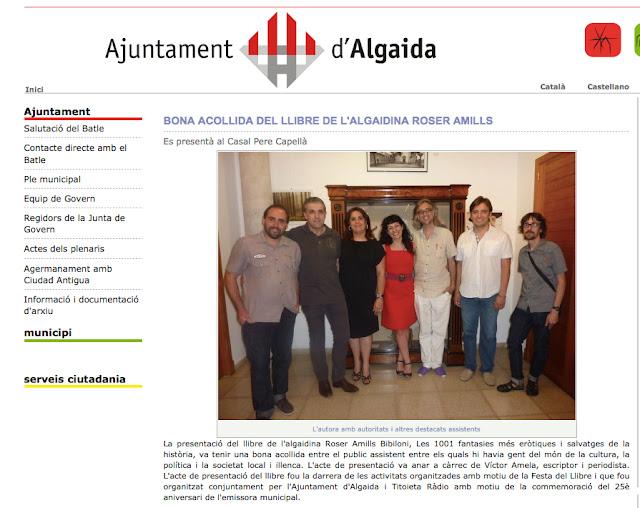 Presentació del llibre de Roser Amills a Algaida, Mallorca