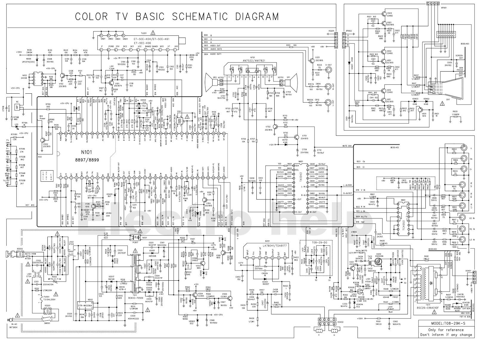 Tv Tuner Card Circuit Diagram Renault Clio 2 Radio Wiring Colour Using Tda8899 System Control