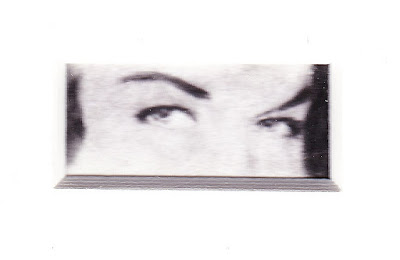 """""""Eyes of Bettie Page"""" Charcoal on Paper, c. 2007 1 x 2 inches"""