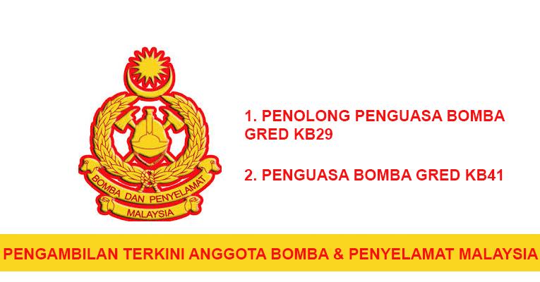 Pengambilan terkini Anggota Bomba dan Penyelamat Malaysia
