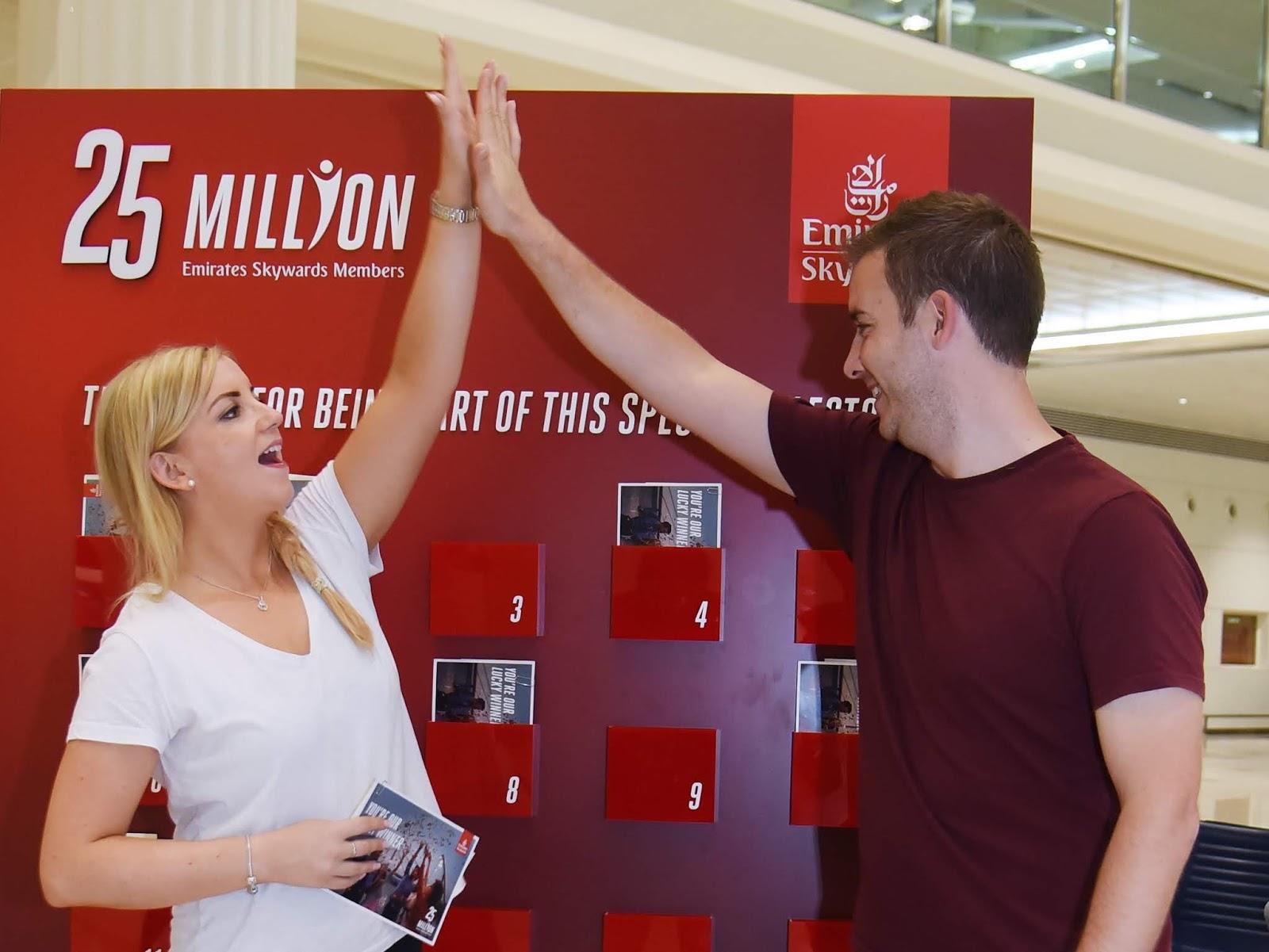 Emirates distribuiu prêmios para os seus 25 milhões de clientes | É MAIS QUE VOAR