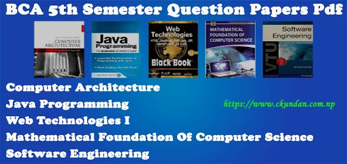 BCA 5th Semester Question Papers Pdf