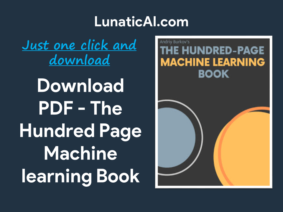 The Hundred-Page Machine Learning Book PDF Github