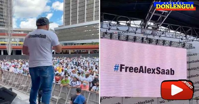Chusma llenó la Diego Ibarra para pedir la libertad del delincuente Álex Saab