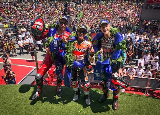 Podium Motogp Catalunya Spanyol 2019