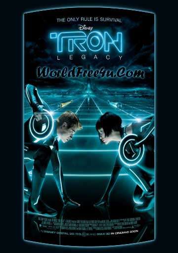 Poster Of TRON Legacy (2010) In Hindi English Dual Audio 300MB Compressed Small Size Pc Movie Free Download Only At worldfree4u.com