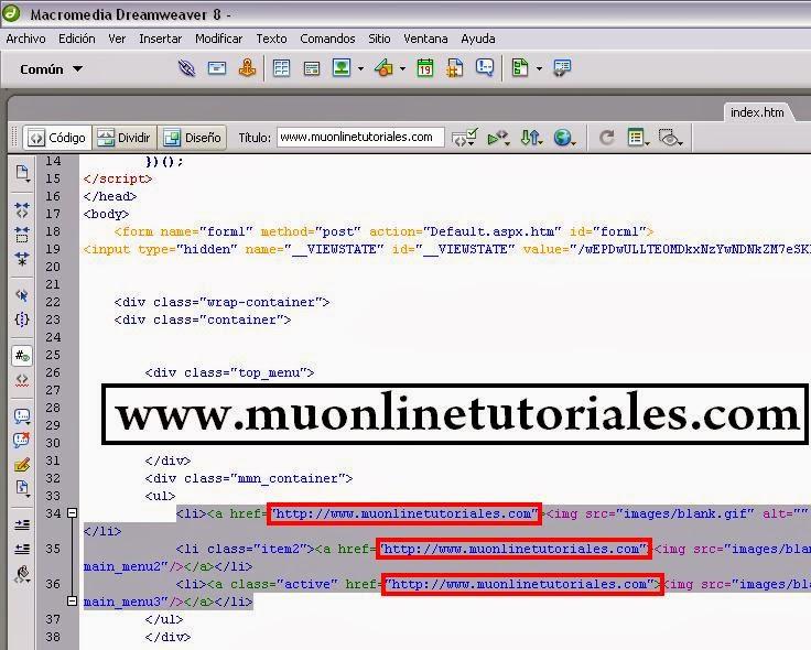 Configurando enlaces externos