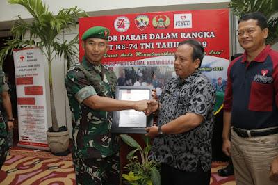Donor Darah Dalam Rangka Peringati HUT ke-74 TNI dan HUT ke-29 Discovery Kartika Plaza Hotel