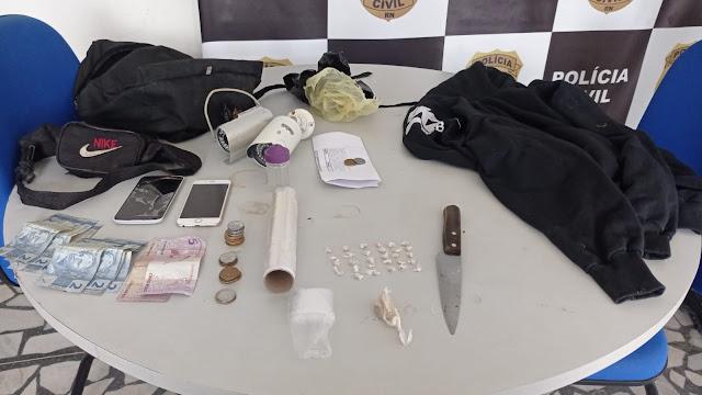 Polícias Civil e Militar prendem dupla por tráfico de drogas em Mossoró