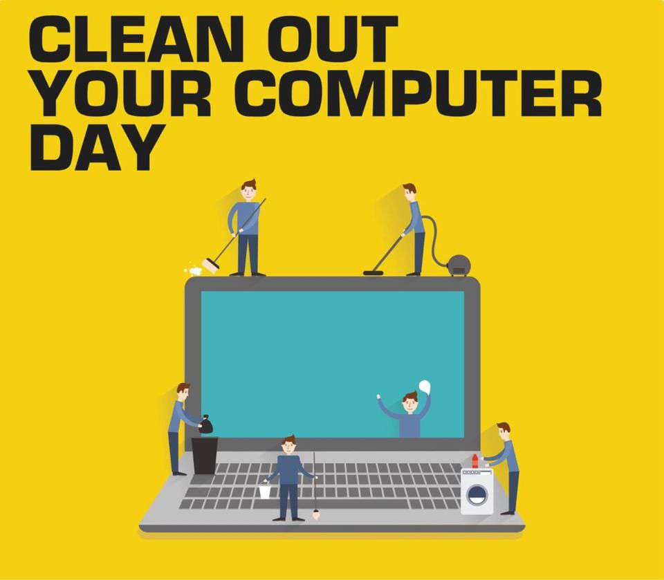 National Clean Out Your Computer Day Wishes Beautiful Image