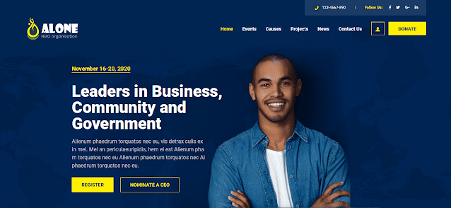 Nonprofit Fundraising & Charity WordPress Themes  With Donation System   Alone