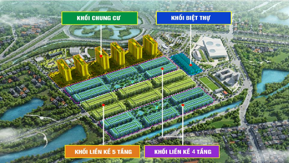 Vị trí khối Chung Cư Him Lam Green Park trong quần thể khu đô thị