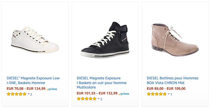 chaussures diesl homme pas cher