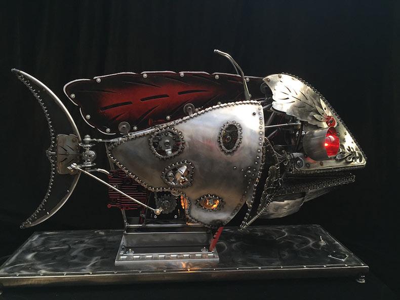 Las fantásticas esculturas cineticas de de Chris Cole