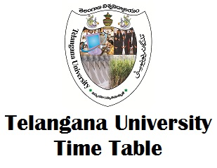 Telangana University Degree Exams Time Table 2017