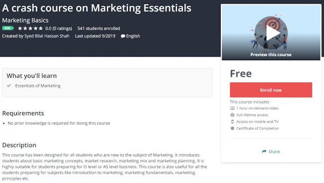 [100% Free] A crash course on Marketing Essentials