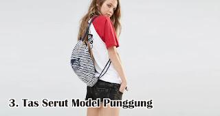 Tas Serut Model Punggung merupakan salah satu jenis dan model tas serut untuk dijadikan souvenir